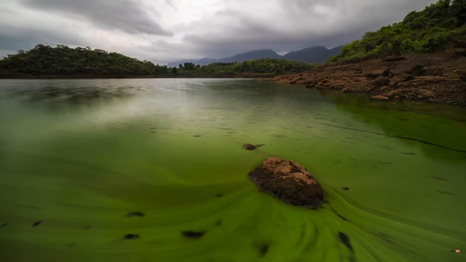 如果沒有前景石頭的話,這只是一幅無趣的水景照片