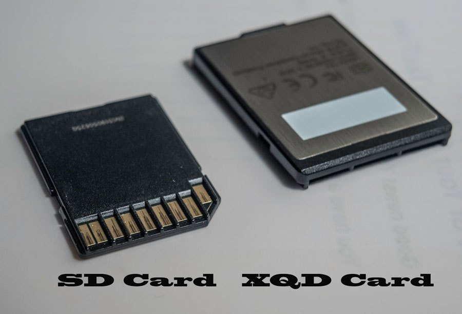 右邊是XQD記憶卡,體積越大於SD卡