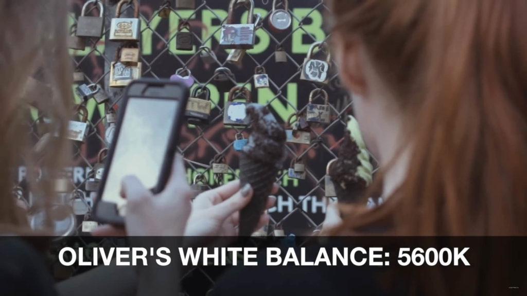 Oliver的白平衡設定為5600K,是陽光下比較正常色溫的色調