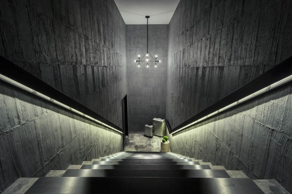 台北行旅商業空間攝影-樓梯間視角