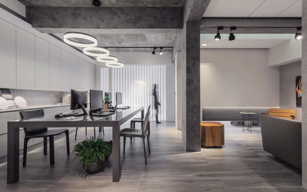 辦公空間正面視角 - 辦公空間攝影