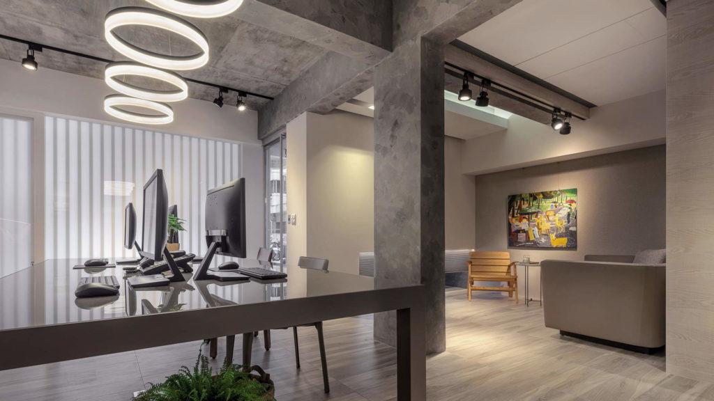 辦公空間與會客室角度