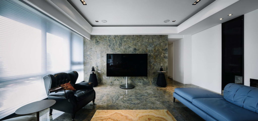 客廳電視牆全景空間攝影