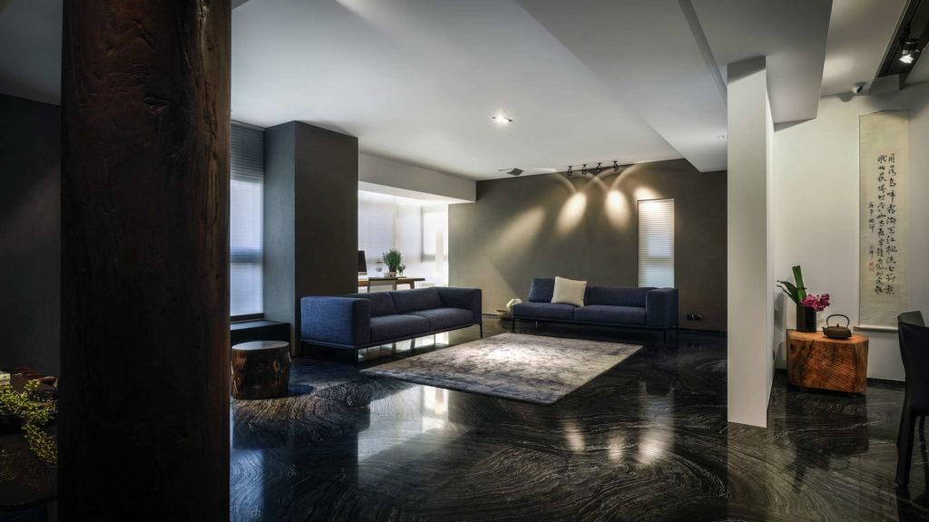 入口看入客廳的角度-空間攝影案例