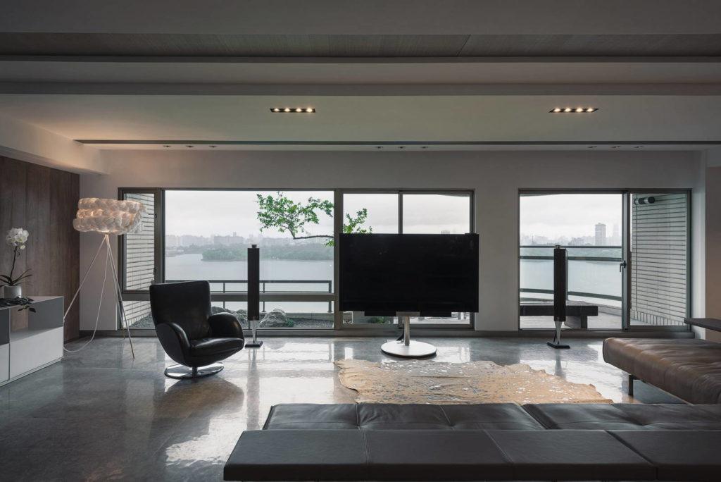 客廳全景落地窗環繞 | 澄峰 | 空間攝影